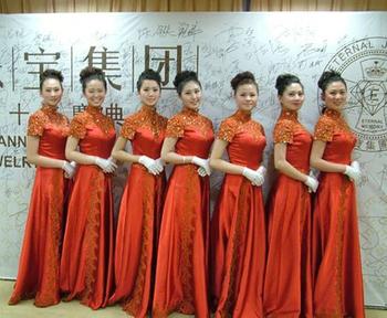 新乡市模特礼仪学校参加英特纳十周年活动