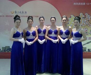新乡市模特礼仪学校参加新乡电视台晚会
